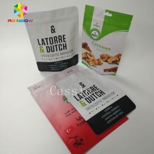 China Aluminum Foil Snack Bag Packaging Plastic Coffee / Tea / Food Ziplock Bags With Zipper wholesale
