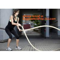 China 12 Power Packed Battle Rope Exercises, Crossfit Battle power ropes for training, GYM rope rings for fitness training on sale