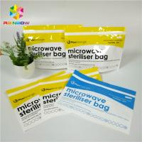China Plastic Microwave Sterilizer Stand Up Zipper Pouch Bags For Baby Feeder / Bottle wholesale