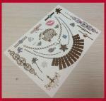 China Body jewel metallic temporary tattoo sticker wholesale