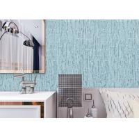 China Soundproof Contemporary Wall Covering Durable With Sky Blue Color , Non Woven Materials on sale