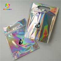 China Gravure Printing Clear Plastic Cosmetic Bags Top Handle Holographic Foil For Clothes / Glove wholesale