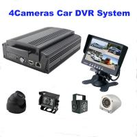 China 4Ch GPS WIFI Full AHD HD DVR car camera with 2TB HDD / SD Card , H.264 Compression wholesale