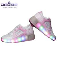 China Comfortable Lining Led Light Up Shoes Kids Roller Skate Shoes , Pink wholesale