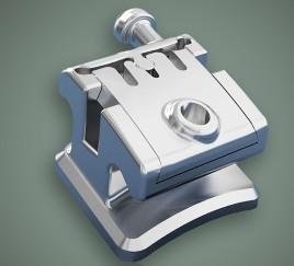 China Dental Orthodontic Instruments Metal Self - Ligating Bracket wholesale
