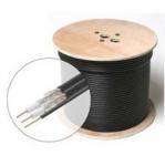China Non Plenum CM Dual RG6 Quad Shield Coaxial Cable 18 AWG CCS Conductor 75 Ohm wholesale