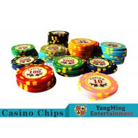 China 11.8g Texas Holdem Metal Casino Poker Chips Round Shape With 40mm Diameter on sale