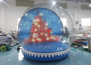 China 0.65mm PVC  Inflatable Santa Snow Globe Ball Quadruple Stitching wholesale