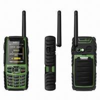China Water-resistant Mobile Phones, Quadband GSM Phones with Walkie Talkie Within 5km Distance wholesale