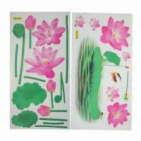 China Floral Wall Stickers/Decals, Comes in Various Designs/Sizes, Used for Home Decoration, Eco-friendly wholesale