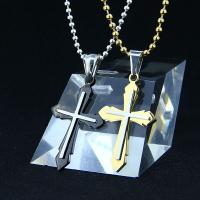 China Fashion Top Trendy Stainless Steel Cross Necklace Pendant LPC273 wholesale