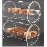 China Double Drum Clear Acrylic Display Case ,Bakery Plexiglass Container wholesale