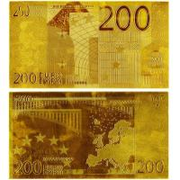 China 200 EURO Gold Banknote Paper Money Collecting Bills wholesale
