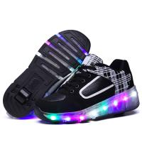 Quality Multicolors Flashing Led Light up Roller Sneakers Unisex for Kinds for sale