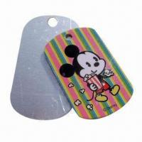 China Fashionable Dog Tag, Made of Stainless Steel Materials/Tinplate, Customized Designs are Accepted wholesale