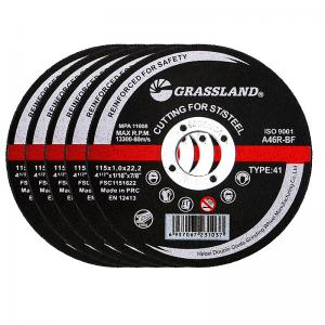 China Flat 115x1x22mm 4.5inch Abrasive Metal Cutting Discs For Angle Grinders wholesale