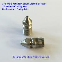 "China 3/8""M Pressure Washer Jet Wash Drain Cleaning Nozzle 1 Forward 8 Rear wholesale"