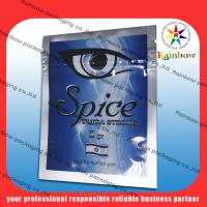 China 100 Micron Aluminium Foil Bag PET / AL / PE For Herbal Incense Package wholesale