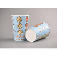 China Blue Custom Paper Popcorn Cups , Printed Cardboard Popcorn Buckets wholesale