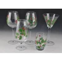 China Colorful Decorated Hand Painted Glass Stemware For Martini Wine wholesale