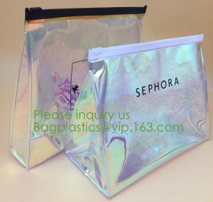 China professional waterproof small makeup bag with logo printing,Fashion Promotional PVC Cosmetic Bag Makeup Bag bagplastics on sale