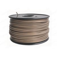 China ABS Round 3MM Filament 3D Printer Consumables , Gold Plastic Filament wholesale
