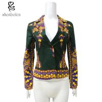 China Spring African Print Ladies Jackets , African Print Blazers For Ladies wholesale