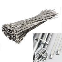 China Self Locking Coated Stainless Steel Cable Ties Fire Resistance 4.8x600mm wholesale