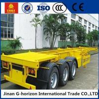 China 40 Ton Skeleton Container Semi Flat Bed Trailors 3 Axle 12400 * 2500 * 1520mm wholesale
