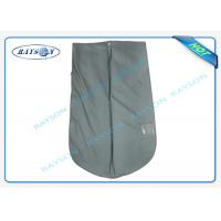 China Grey Suit And Dress Covers , Breathable Clothes Covers With PVC Film wholesale