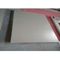 China 1.2 X 2m 5 Tons Heavy Duty Floor Scales , Single Deck Industrial Floor Scales Without Frame wholesale