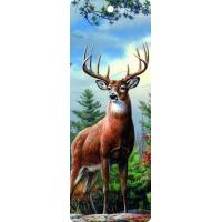 China Cute Reindeer 5.6x15.3cm Size 3D Lenticular Bookmark With Colorful Tassel wholesale