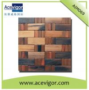 China High quality wood wall tiles mosaic wholesale