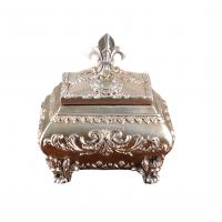 China Attractive Ornate Silver Resin Trinket Box For House Decoration 15x12x12 Cm wholesale