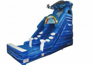 China Digital print inflatable Naval Air Force Helicopter standard slide inflatable high dry slide for Children under 15 years on sale