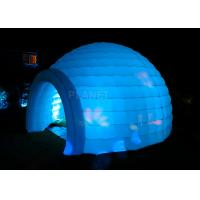 China Led Lighting Inflatable Igloo Tent , Oxford Cloth Inflatable Tents For Parties wholesale