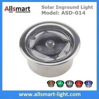 China Round LED Accent light Solar Powered Marker Lights Swimming Pool Edge Lights Solar Dock Deck Lights wholesale