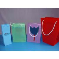 China Disposable Pink Red blue Color PP Gift Shopping Bags OEM & ODM wholesale