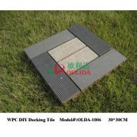 China No Crack Garden Decking Tiles 30cm * 30cm , Interlocking Patio Tiles Barefoot Friendly wholesale