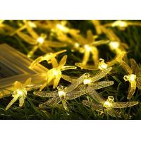 China Outdoor Decorative Dragonfly Solar String Lights With Motion Sensor Copper Cable wholesale