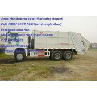China Auto HOWO 16 Cbm 10 Wheels Garbage Compactor Truck With Rear Cover / Italy Pto wholesale