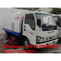China CLW5060TSLQ4 JAPAN brand ISUZU 4*2 LHD road sweeper truck for sale, best price ISUZU 120hp Euro 4 street sweeping truck on sale