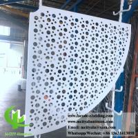 China Sector Shape Metal Sheet Aluminum Panel 3mm PVDF Paint Finish ISO9000 Listed wholesale