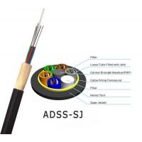 China All-Dielectric self-supporting aerial ADSS fiber optic cable ADSS CABLE with 100m 200m span on sale