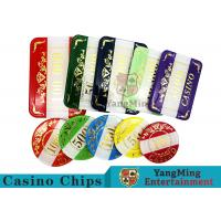 Casino Style Numbered Poker Chip Set Bright Color With Customized Print Logo for sale