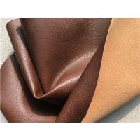 China Sofa Genuine Recycled Leather Upholstery Fabric With PU Coating Surface wholesale