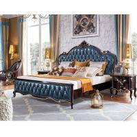 China Oak Wood Leather Classic Upholstered Antique Bed OY-DC26 wholesale