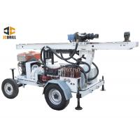 China 24kw Engine Power Water Well Drilling Rig Dth Drilling Machine Trailer Mounted on sale