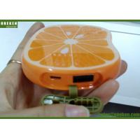 China Portable Orange Shaped Cute USB Lithium Polymer Battery Power Bank For Mobile Phone wholesale