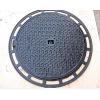 Hinged Manhole Covers : High quality iron cast lockable hinged manhole covers make